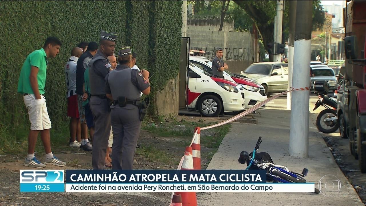 Ciclista morre atropelado em São Bernardo do Campo