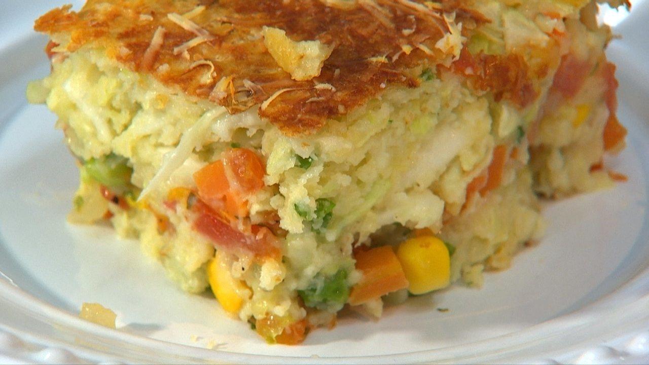 Receita Nosso Campo: aprenda a fazer uma torta colorida de legumes