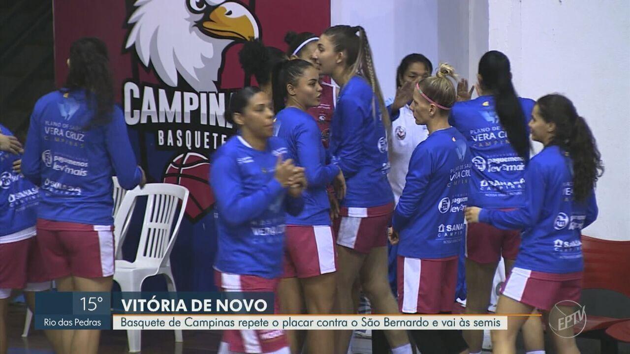 Basquete de Campinas repete o placar contra o São Bernardo