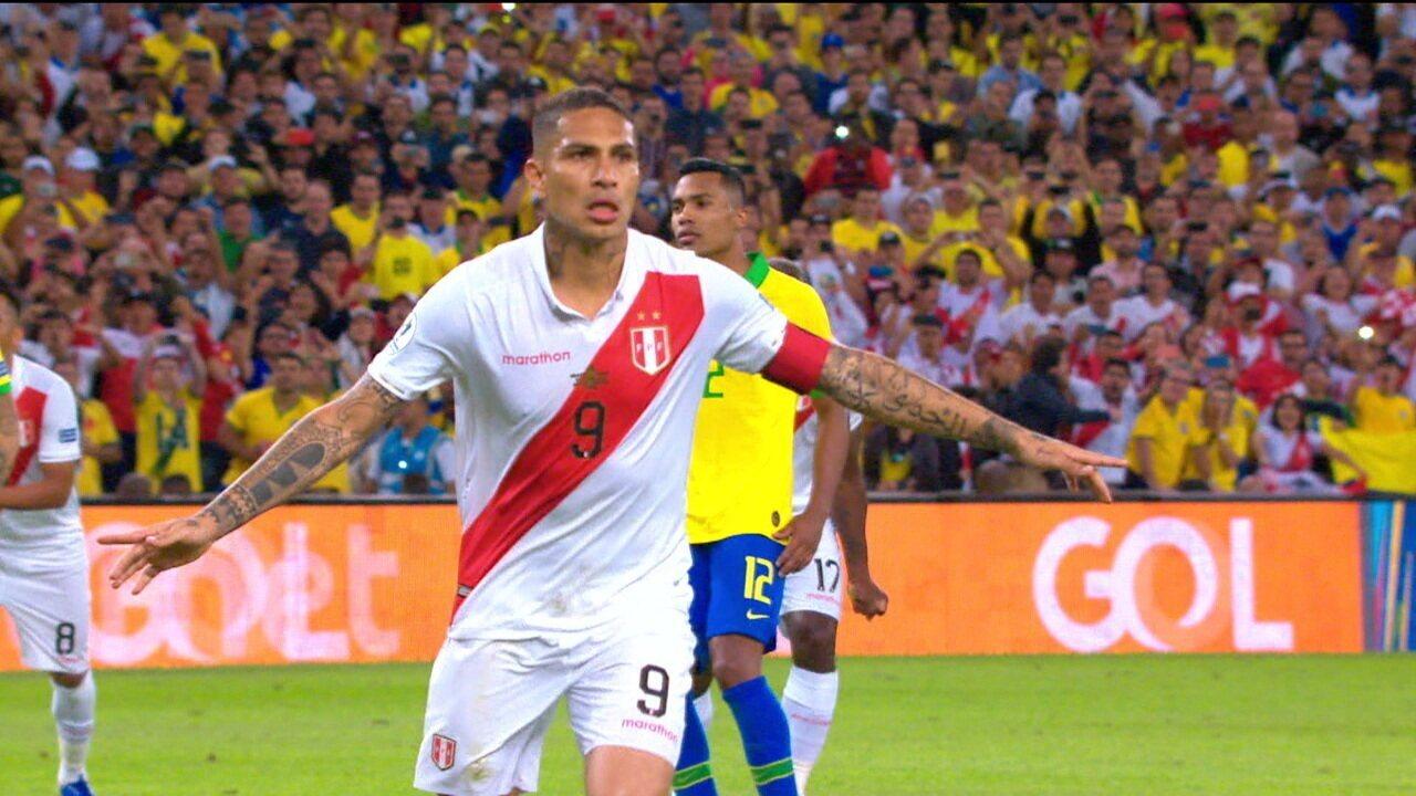 O gol de Guerrero na final contra o Brasil