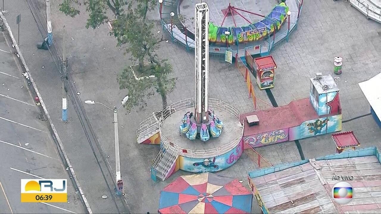 Polícia deve periciar brinquedo de parque de diversões em São João de Meriti