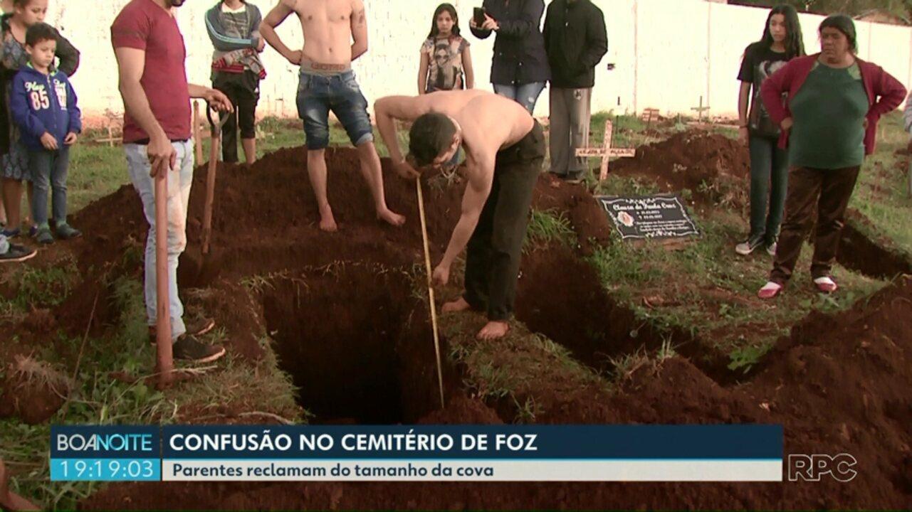Confusão no cemitério de Foz do Iguaçu