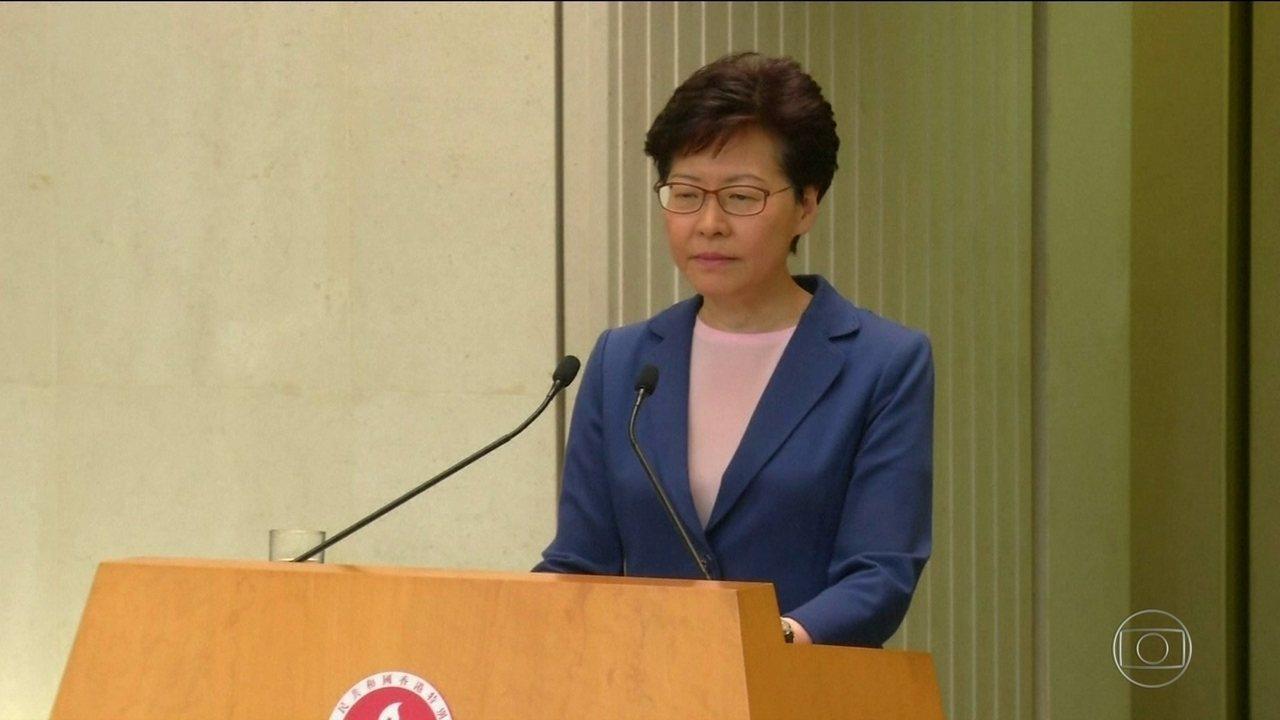 Hong Kong desiste de projeto de lei de extradição para a China