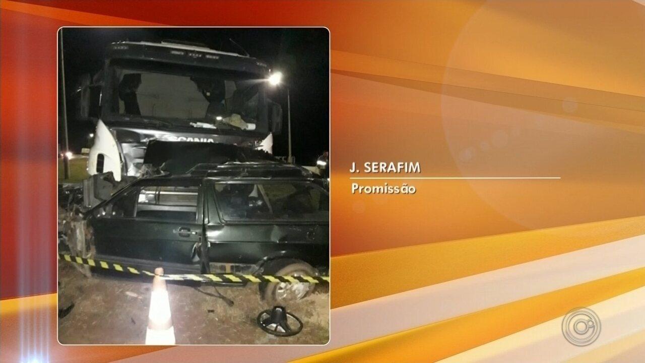 Motorista morre ao ser atingido por caminhão na Rodovia Transbrasiliana em Promissão