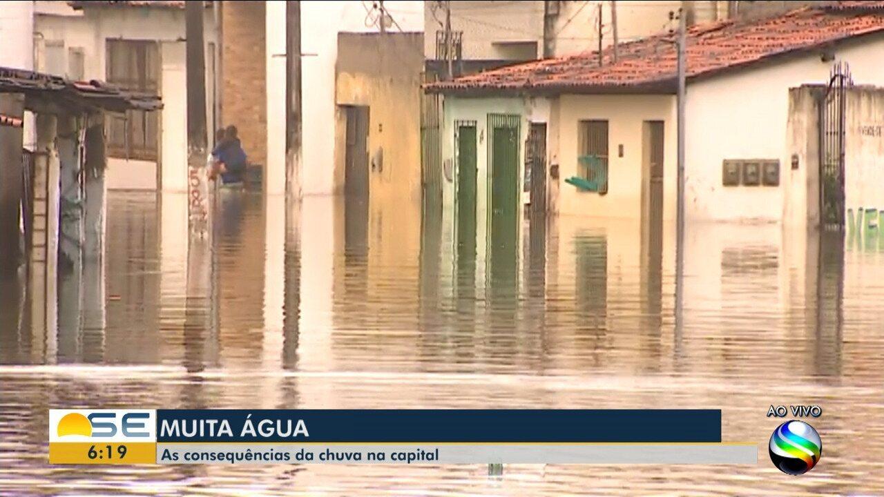 Chuvas causam transtornos em vários pontos de Sergipe