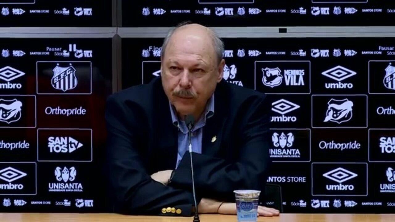 Presidente do Santos deu entrevista logo depois da confusão