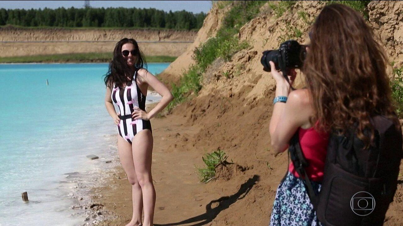 Lago tóxico vira nova atração turística na Rússia e preocupa autoridades