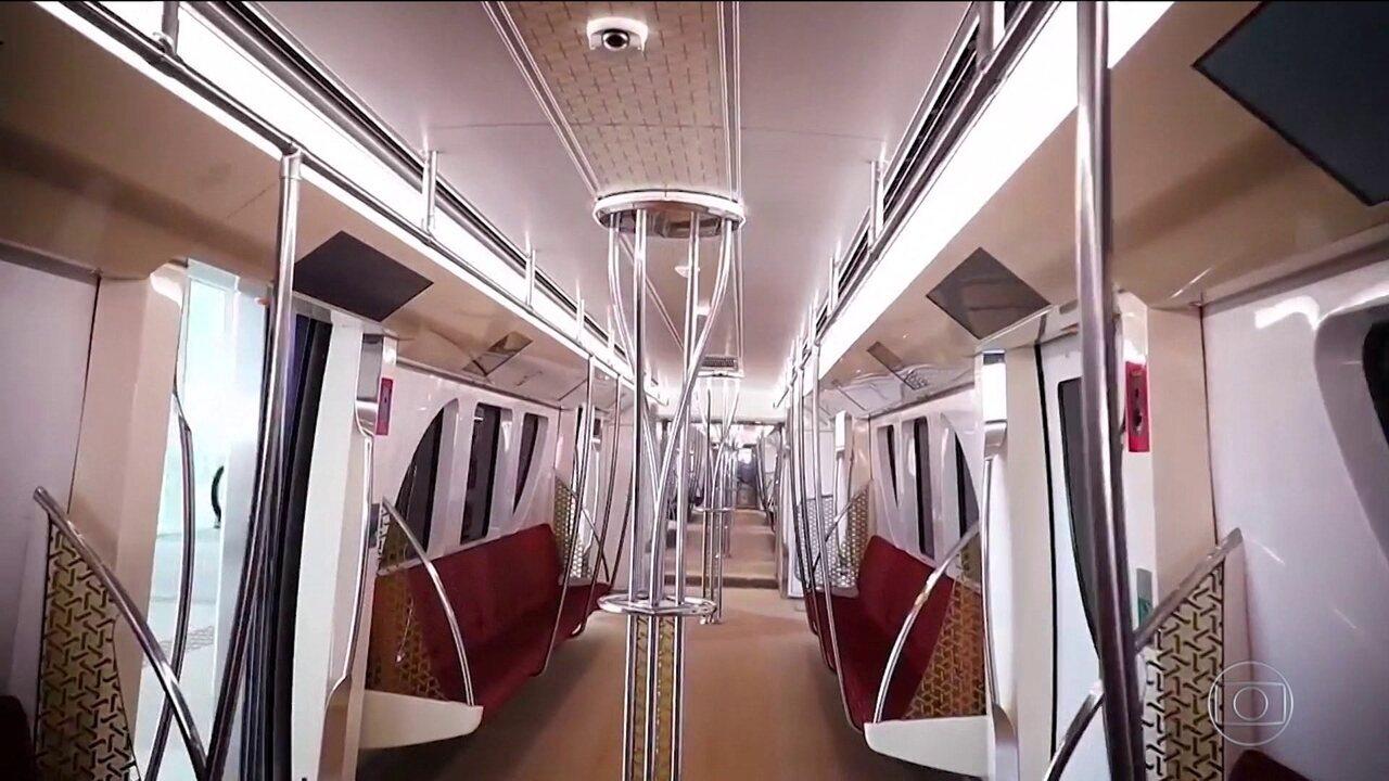 Catar inaugura primeira linha do metrô e prevê todo o sistema pronto até o ano que vem