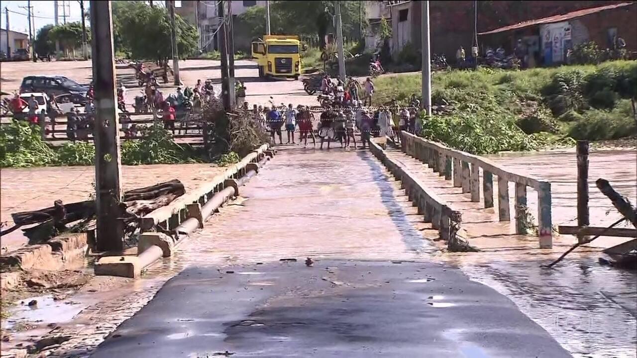 Nível do Rio do Peixe volta a subir e há preocupação com o risco de novo rompimento