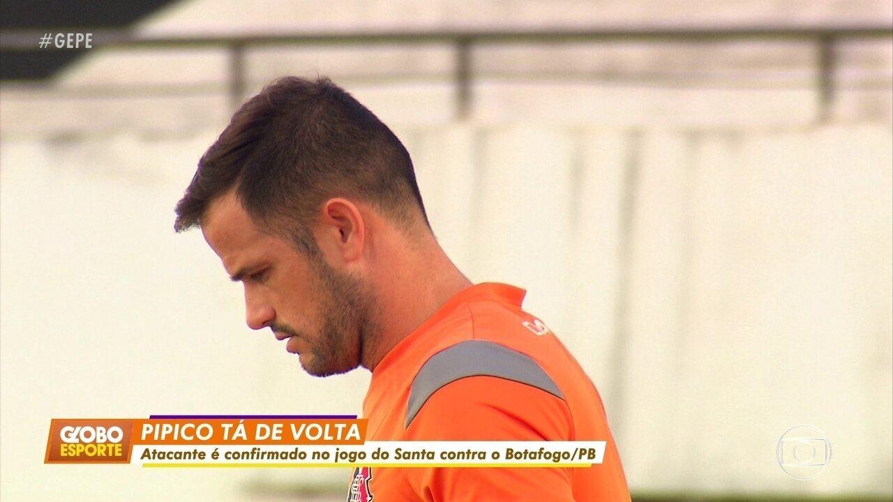 Pipico volta ao Santa de olho na recuperação da equipe na Série B