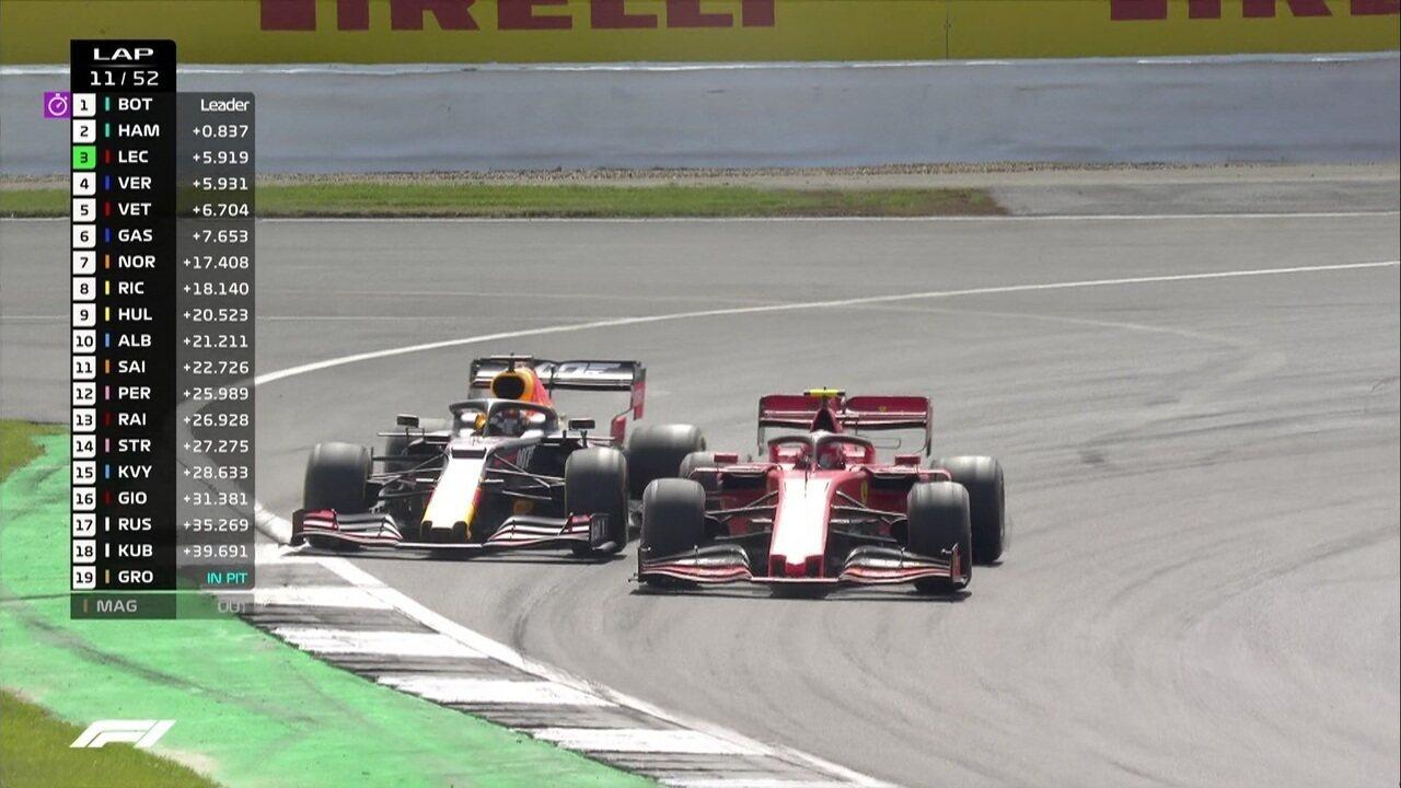 Verstapen e Leclerc disputam posição e Vettel se aproveita para se aproximar