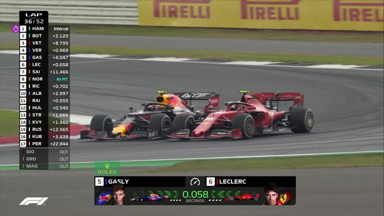 Leclerc ultrapassa Gasly e assume a quinta posição