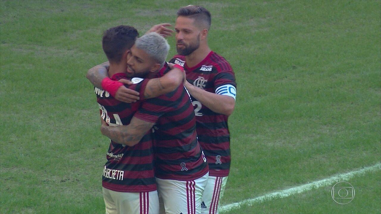 Gols do Fantástico: Flamengo goleia o Goiás por 6 a 1 no Maracanã