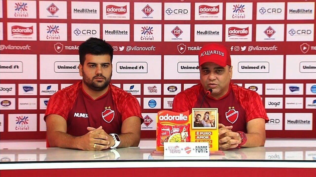 Assista à entrevista de apresentação do técnico Marcelo Cabo no Vila Nova