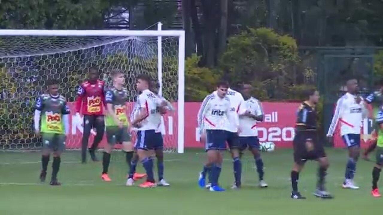 São Paulo 2 x 0 Votuporanguense: veja os gols do jogo-treino