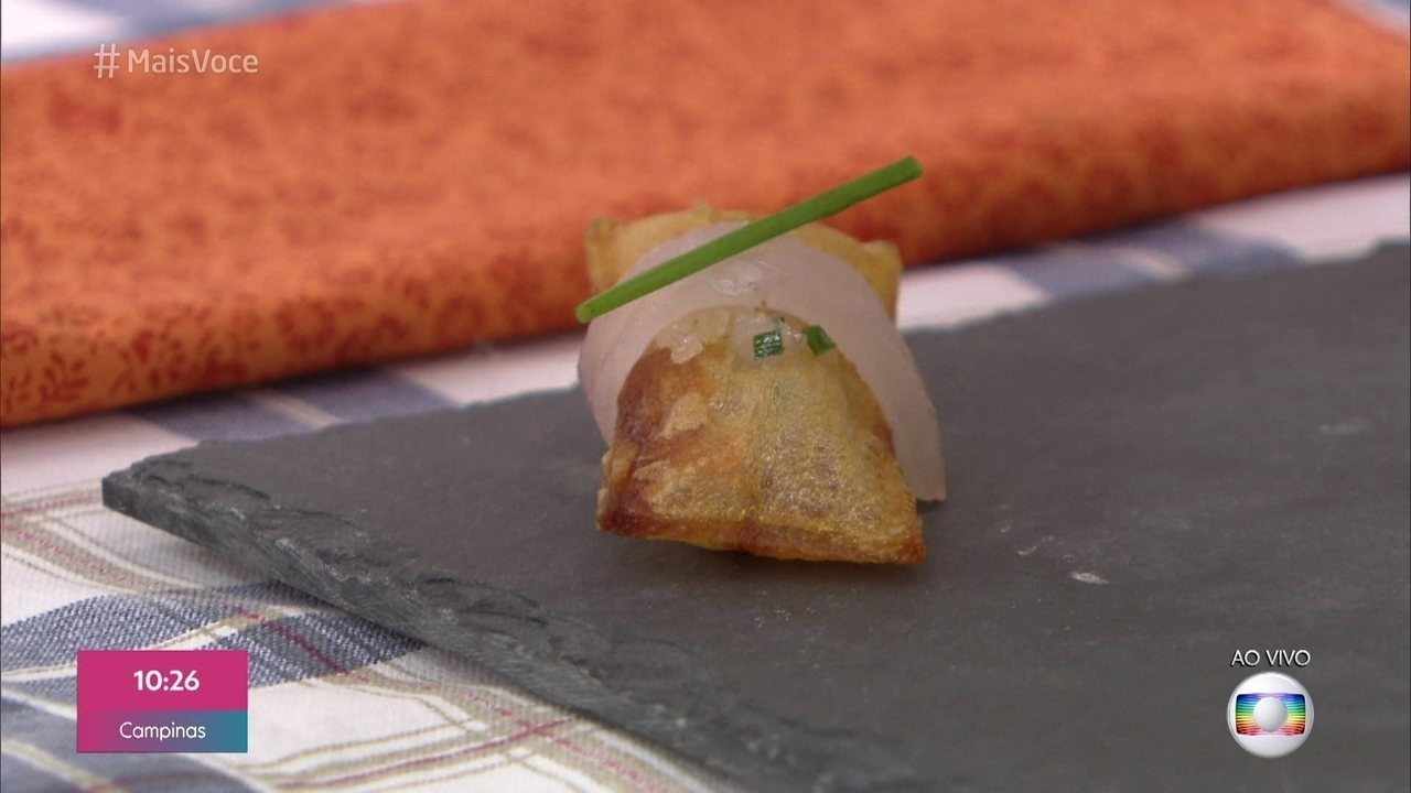 Batata Suflê recheada com Tartar de Peixe