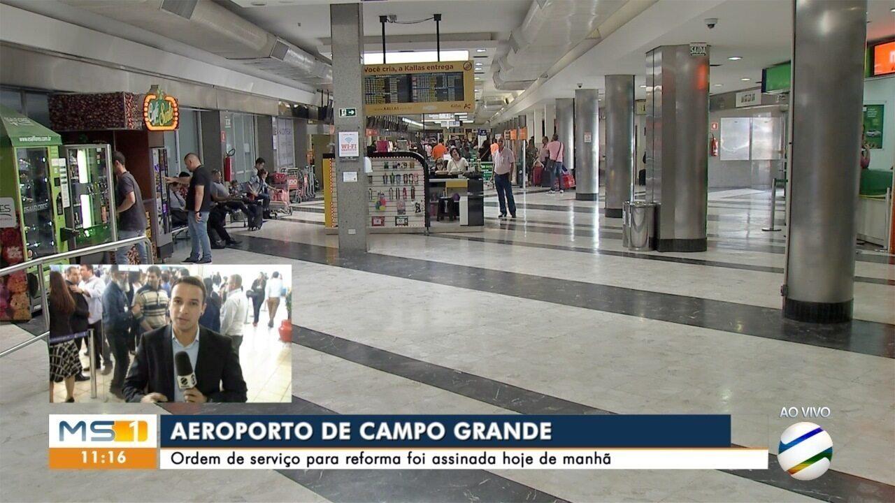 Assinada ordem de serviço para a ampliação do Aeroporto Internacional de Campo Grande