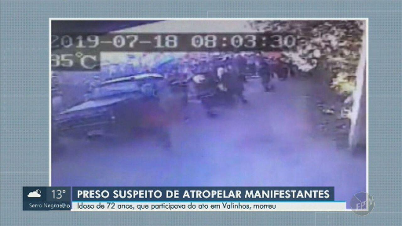 Vídeo mostra momento em que caminhonete avança sobre manifestantes em Valinhos