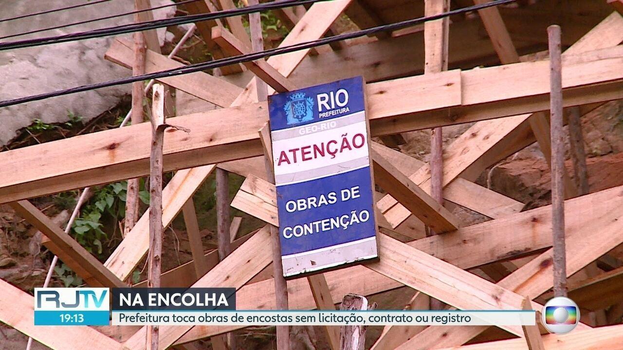 Prefeitura faz obras quase 40 obras de contenção de encostas sem licitação