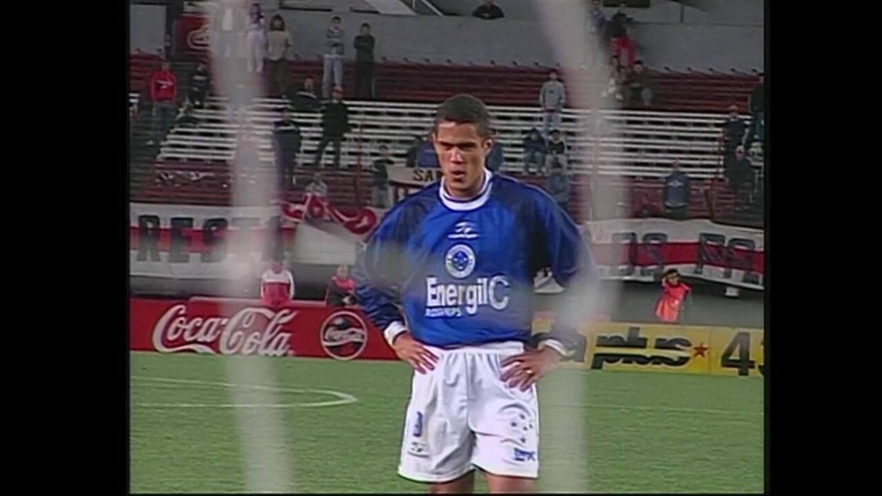 Os gols da vitória do Cruzeiro na partida no Monumental de Núñez