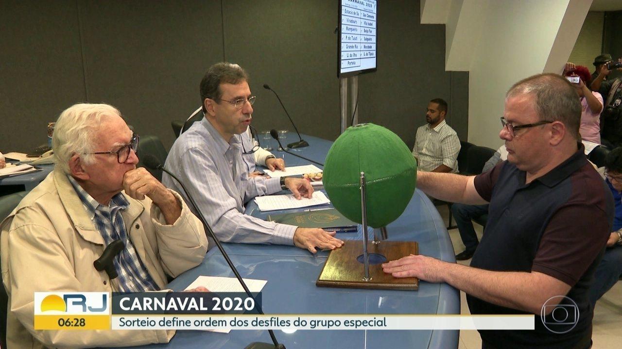 Estão definidas as ordens e dias dos desfiles do carnaval 2020