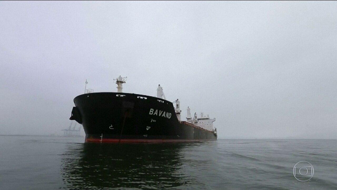 Navios iranianos estão parados em porto brasileiro sem combustível
