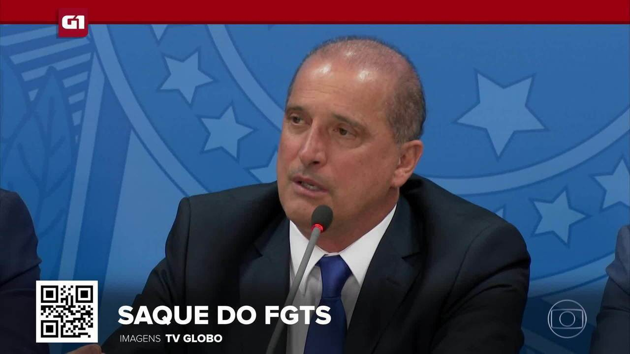 G1 em 1 minuto: Liberação do FGTS vazou antes de estudos serem concluídos, diz Onyx