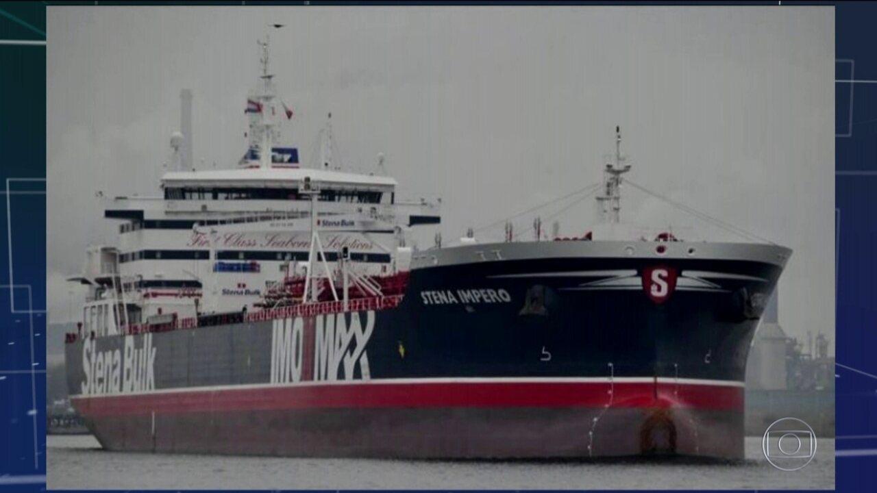 Irã anuncia captura de navio petroleiro britânico