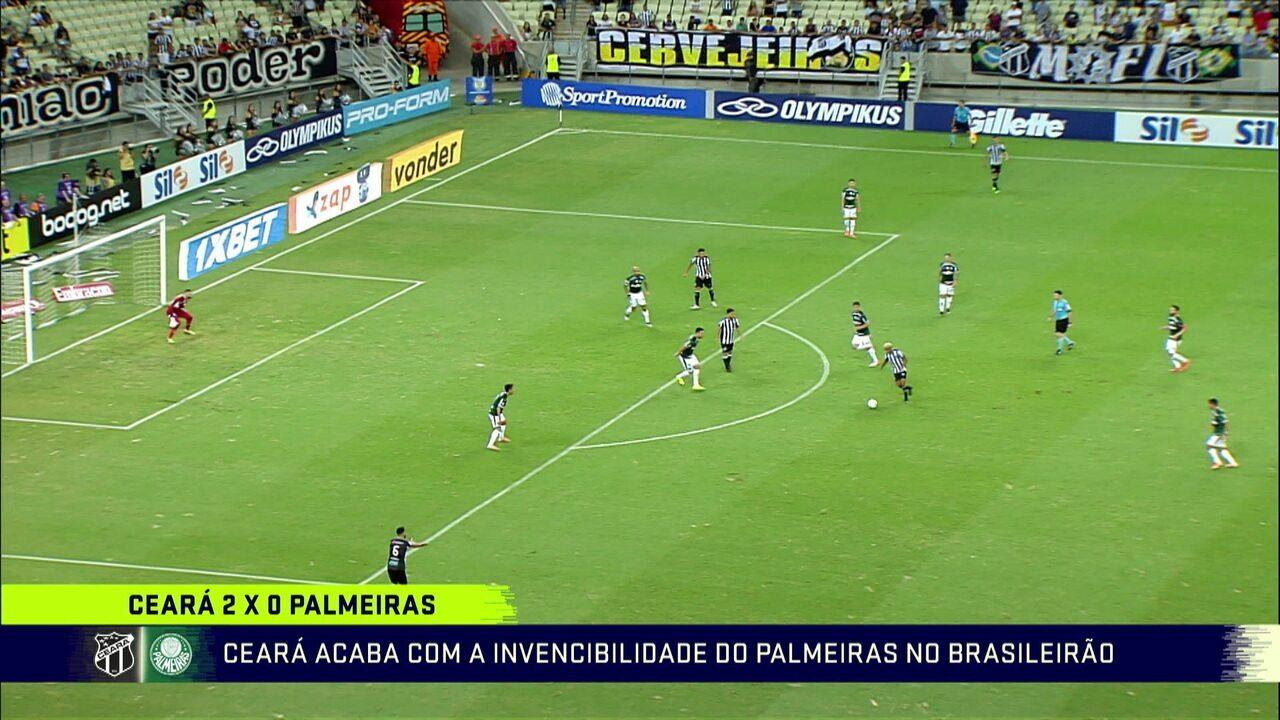 Comentaristas analisam a derrota do Palmeiras para o Ceará o Brasileirão