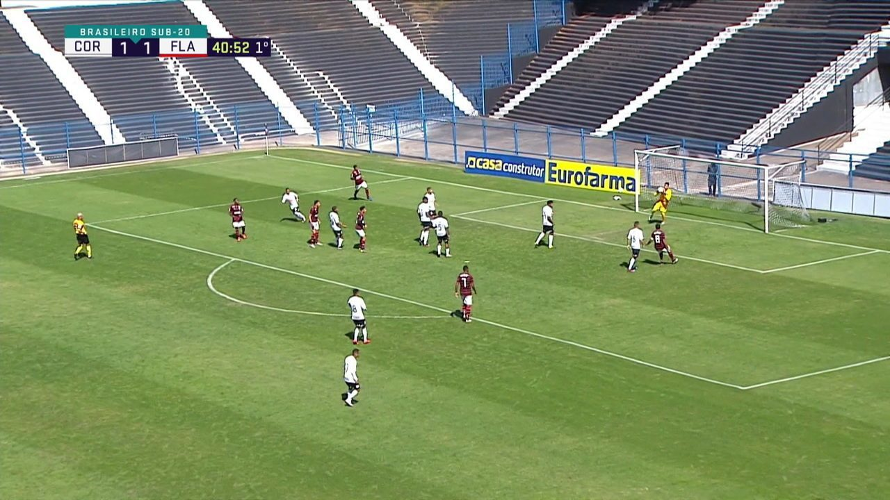 Melhores momentos: Corinthians 2 x 2 Flamengo pela 6ª rodada do Brasileiro sub -20