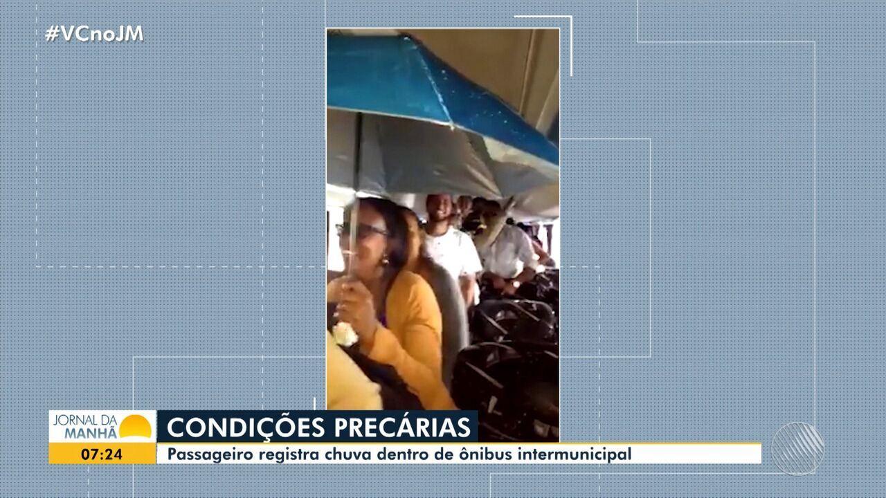 Denúncia: passageiros gravam vídeo de chuva dentro de ônibus intermunicipal