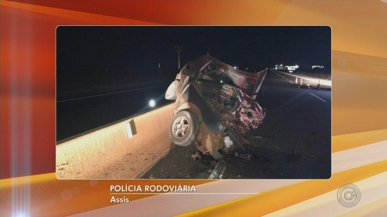 Acidente entre carros deixa quatro mortos em rodovia de Tarumã