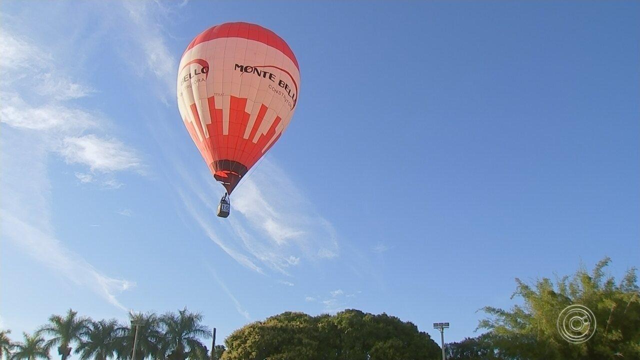 Campeonato Brasileiro de Balonismo é realizado em Araçoiaba da Serra