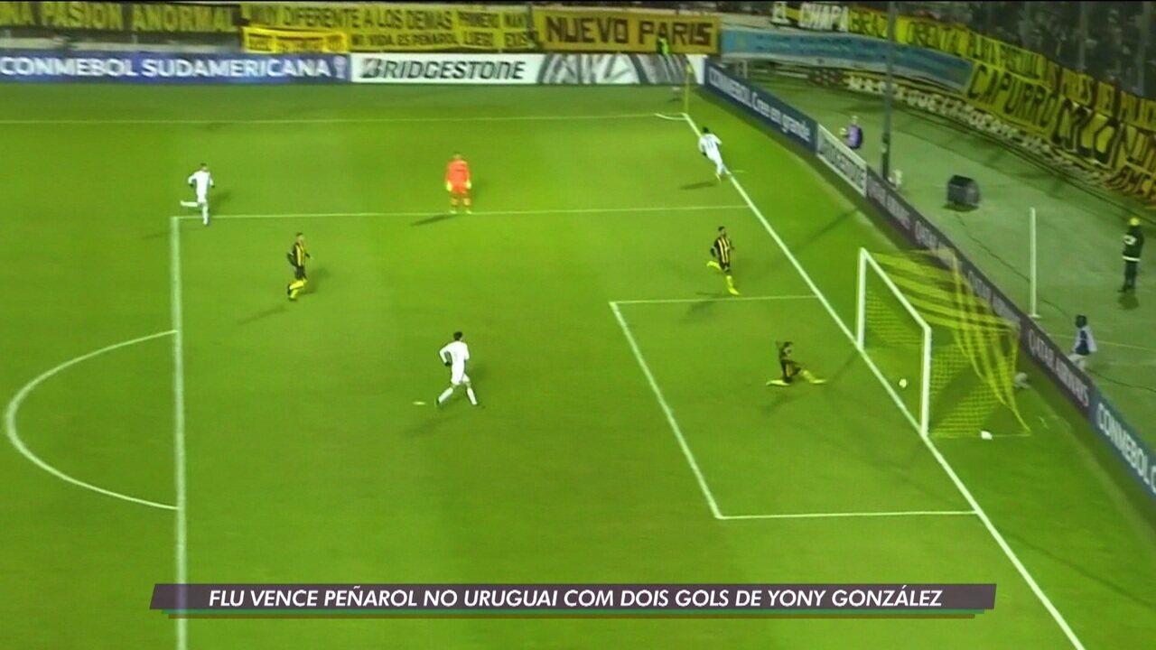 No Uruguai, Fluminense vence o Peñarol com dois gols de Yony González
