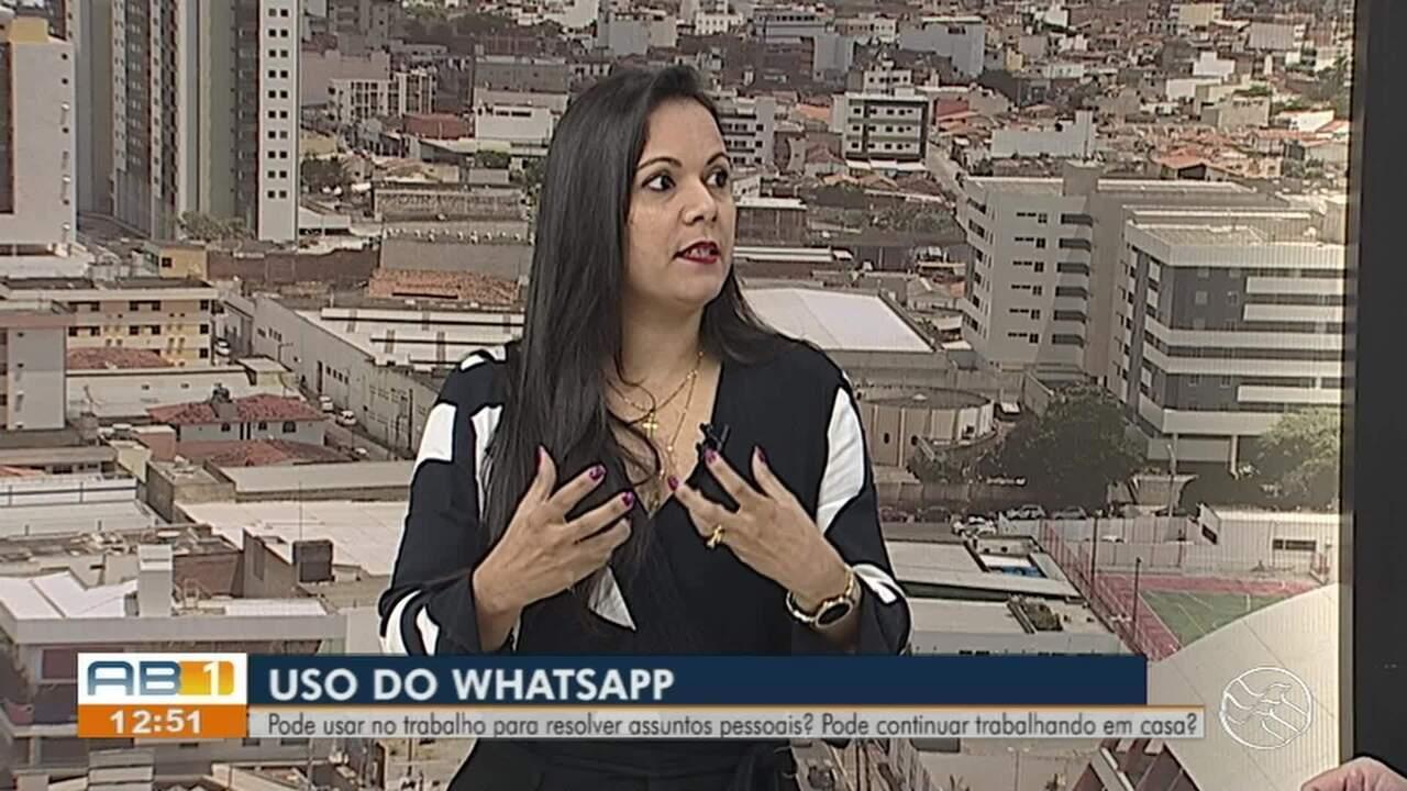 Advogada Trabalhista fala sobre uso de whatsapp dentro e fora do trabalho