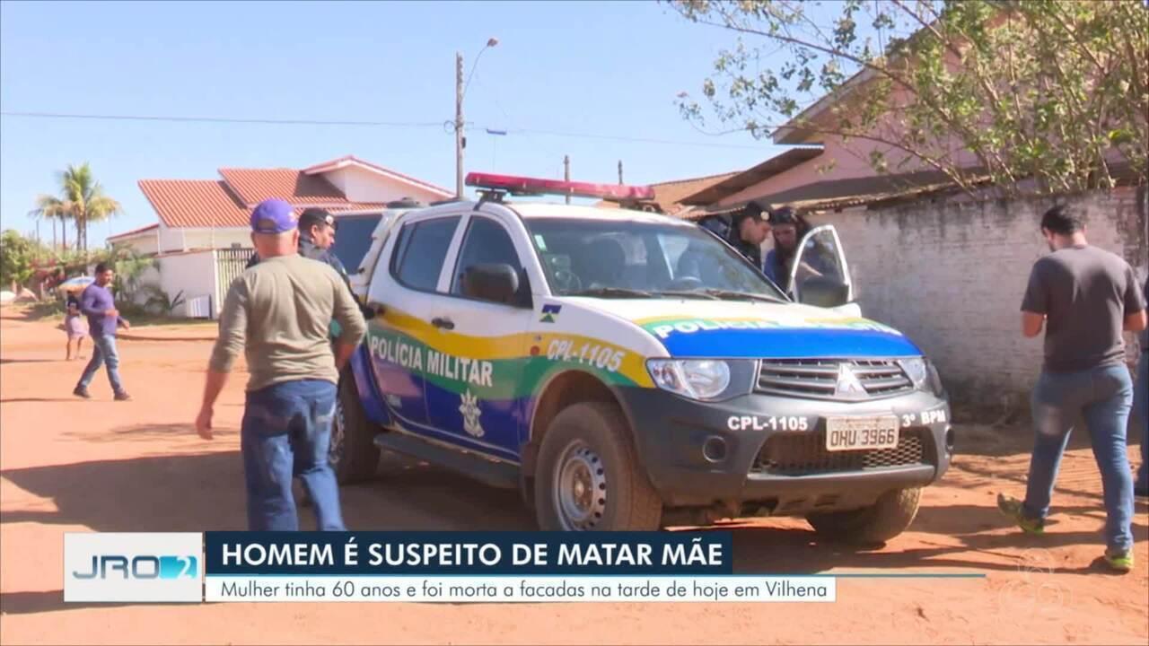 Homem é principal suspeito de matar a mãe de 60 anos em Vilhena
