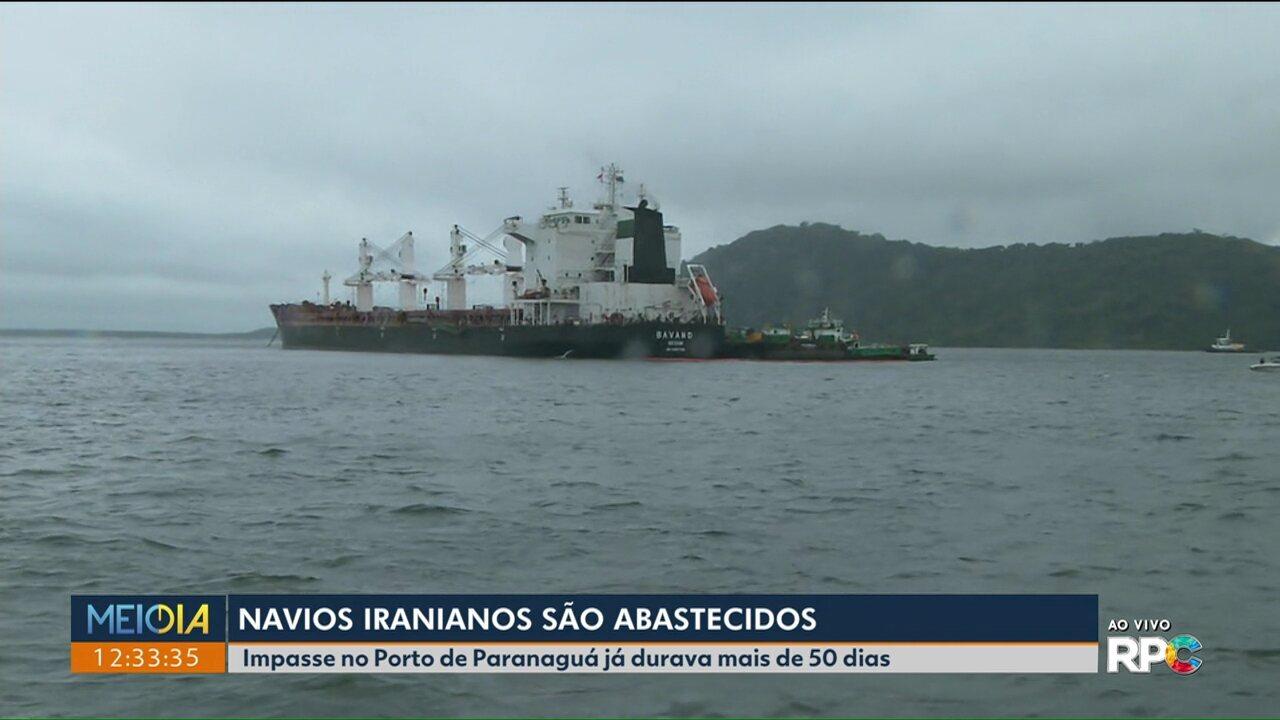 Navios que estavam a 50 dias no Porto de Paranaguá são abastecidos