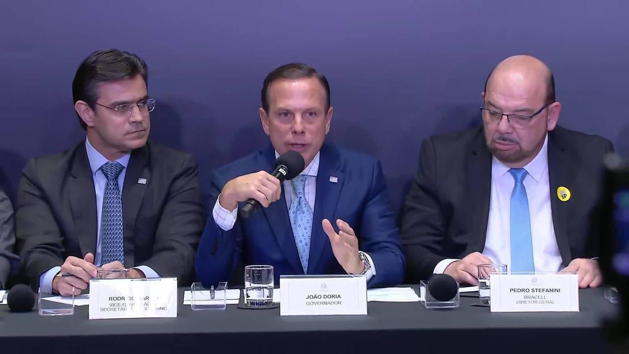 Resultado de imagem para Doria lembra de exílio do pai e diz que fala de Bolsonaro sobre desaparecido na ditadura é 'inaceitável'