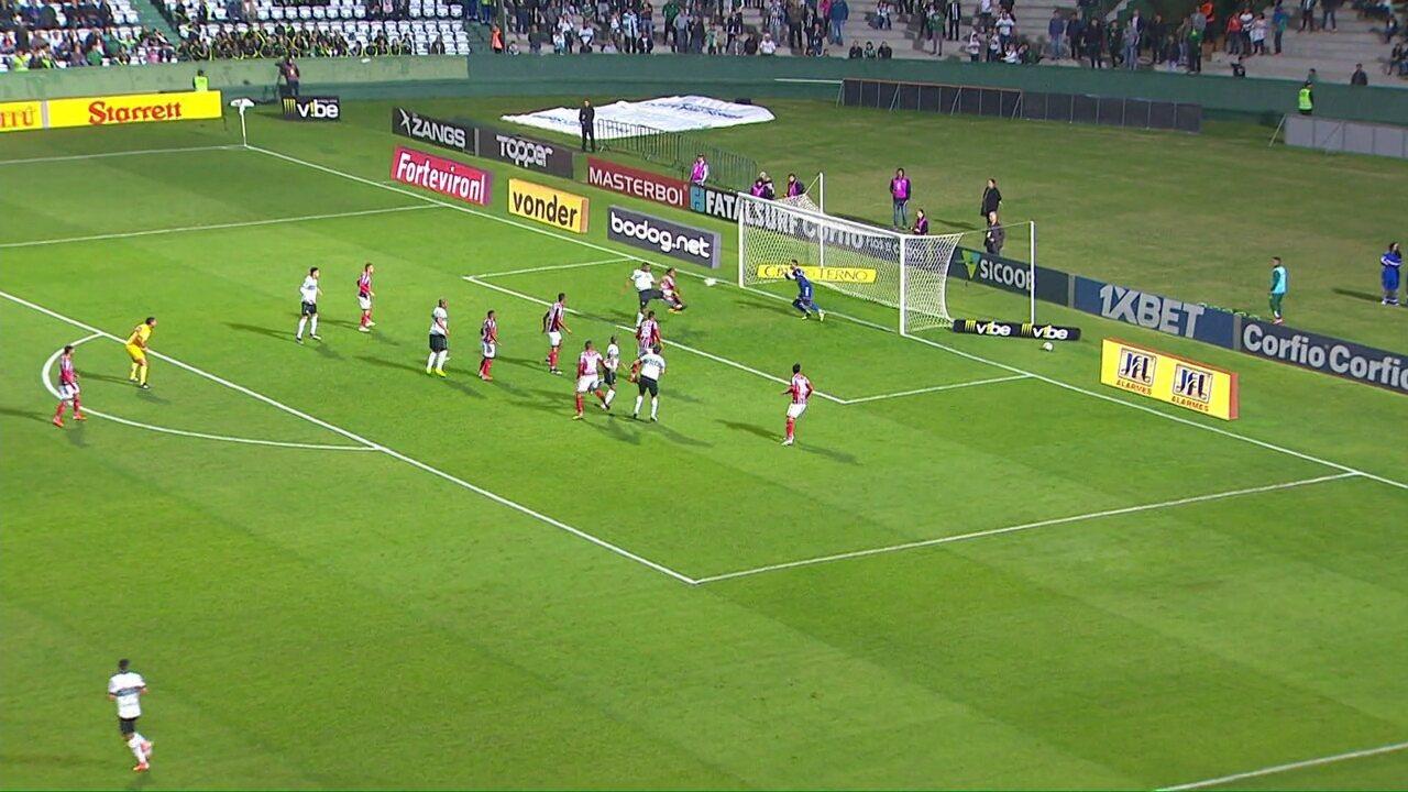 Veja os gols de Coritiba 3x2 Botafogo-SP, pela 13ª rodada da Série B