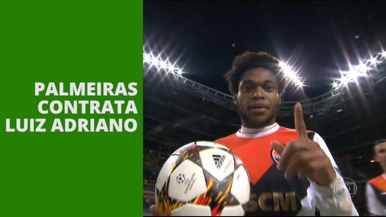 Palmeiras contrata o centroavante Luiz Adriano