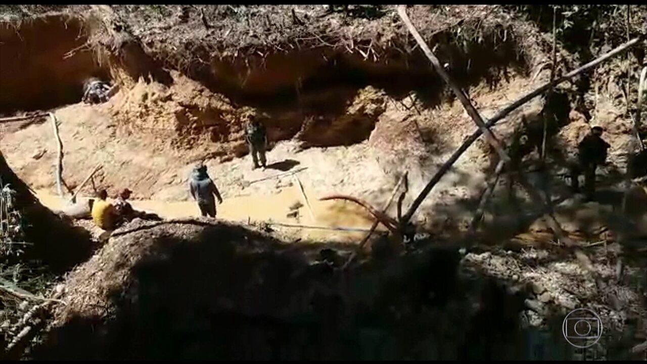 Funai e Polícia Ambiental de Rondônia fecham garimpo que funcionava em reserva indígena