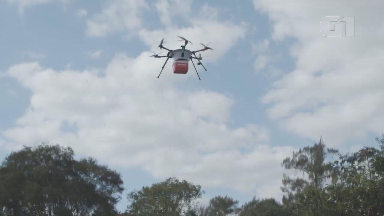 Campinas pode ser 1ª do país a ter entregas de refeições por drones