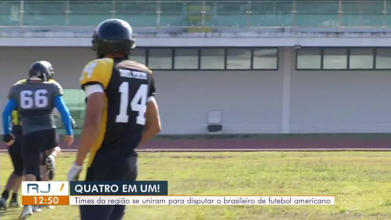 Quatro times se juntam para representar o Sul do Rio no Brasileiro de futebol americano