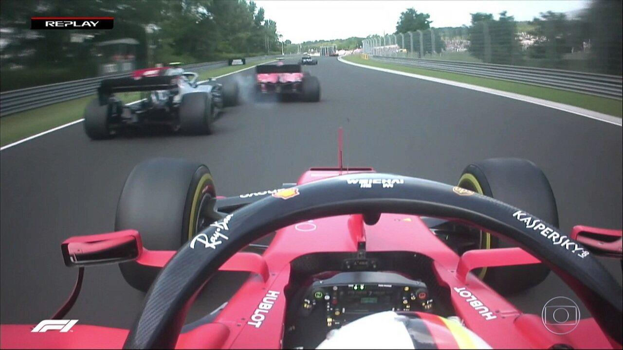 Leclerc é mais um que castiga a asa dianteira de Bottas na Hungria