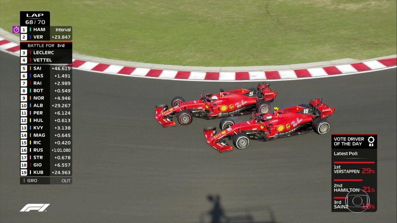 Vettel passa LeClrerc e assume 3ª posição