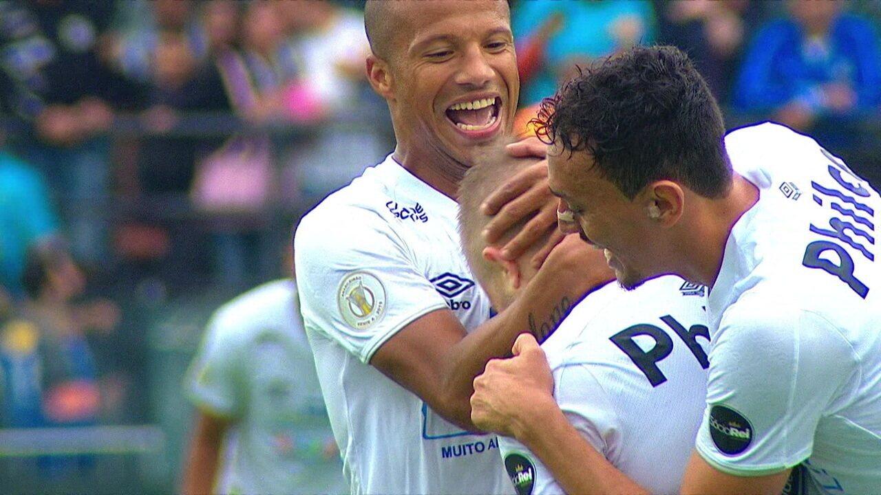 Melhores momentos: Santos 6 x 1 Goiás pela 13ª rodada do Campeonato Brasileiro