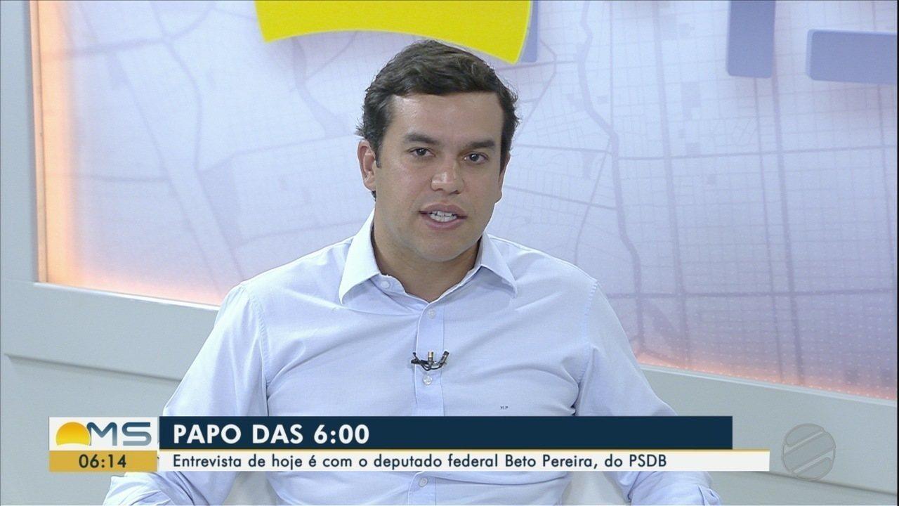 Deputado federal Beto Pereira é o entrevistado desta segunda-feira (5) do Papo das 6