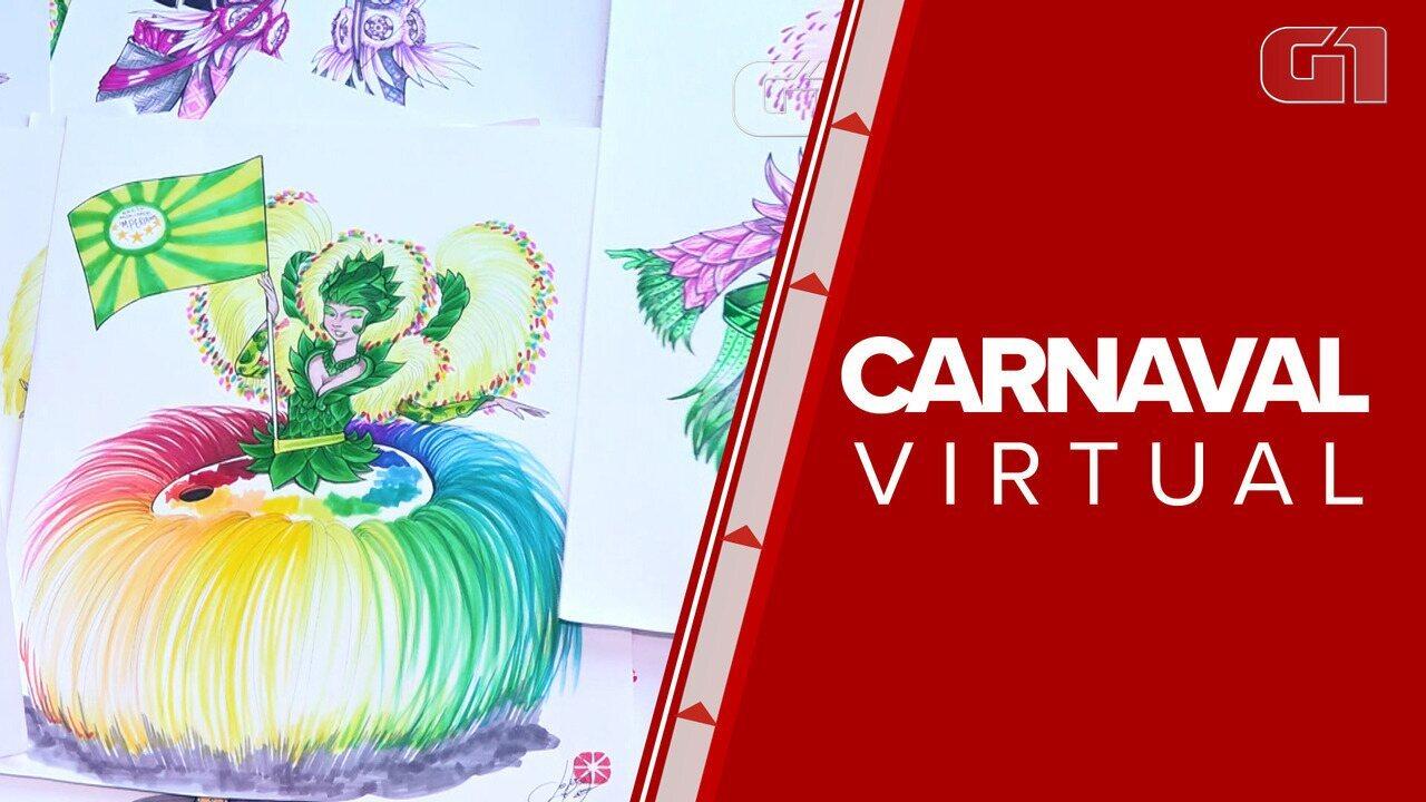 Carnaval Virtual revela novos artistas para o mundo das escolas de samba