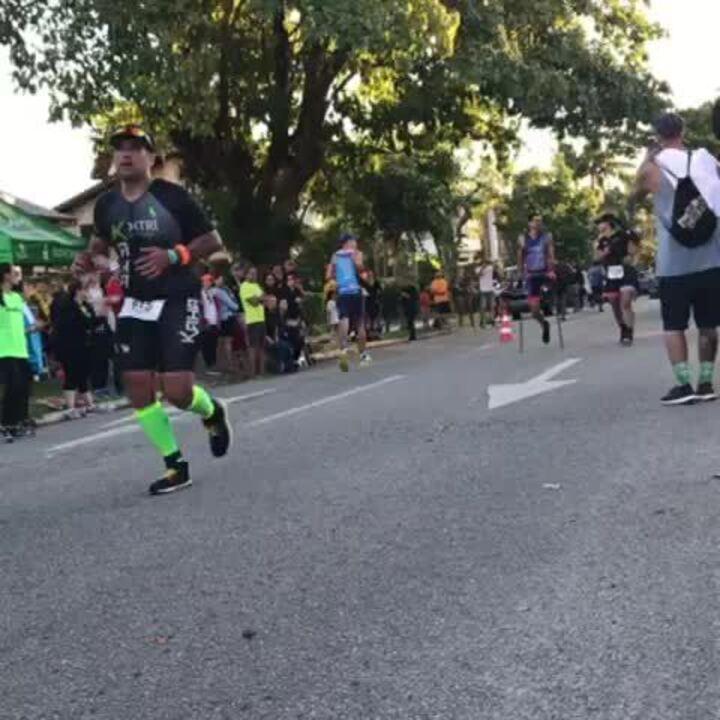 Fábio Rigueira percorreu 21,1km em corrida
