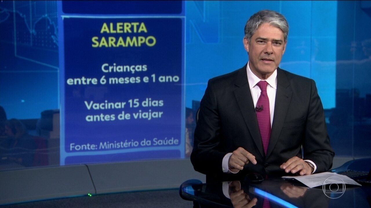 Ministério da Saúde alerta pais a vacinarem crianças contra o sarampo